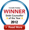 Vincent Bond Debt Councellor of The Year 2010